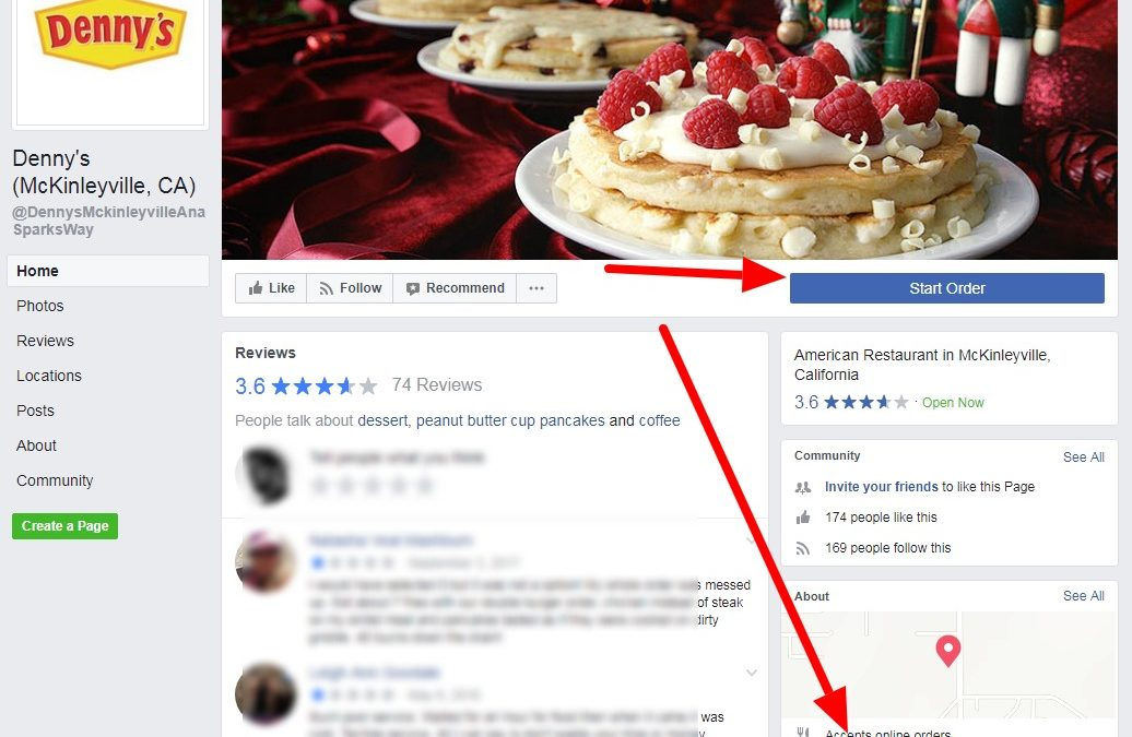 Facebook Introduces Food Ordering For Restaurants